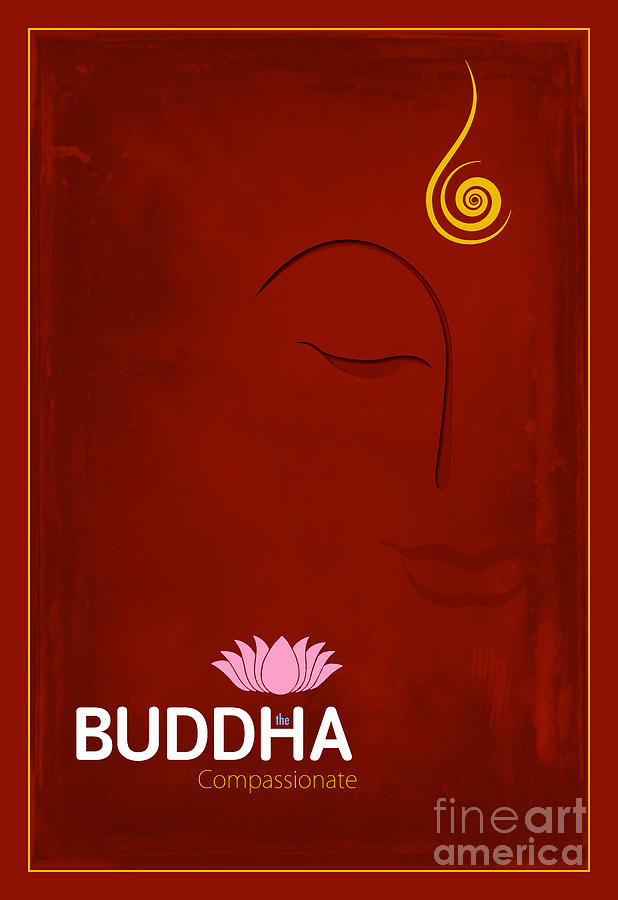 Buddha Digital Art - Buddha The Compassionate by Tim Gainey