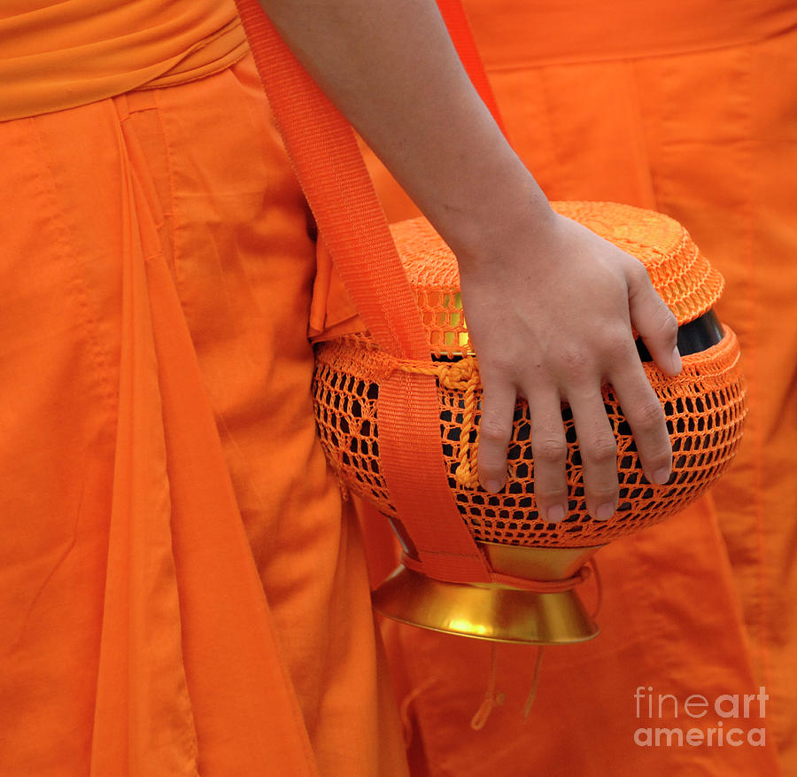 Hand Photograph - Buddhist Monks Hand by Bob Christopher