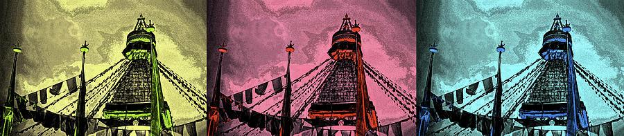 Buddhist Stupa, Kathmandu, Nepal Digital Art by Images Etc Ltd