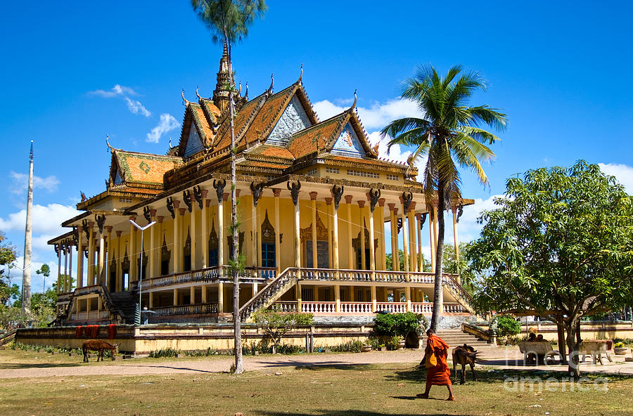 Buddhist Temple In Kratje