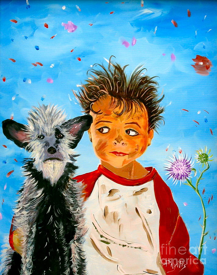 Dog Painting - Buddies by Phyllis Kaltenbach
