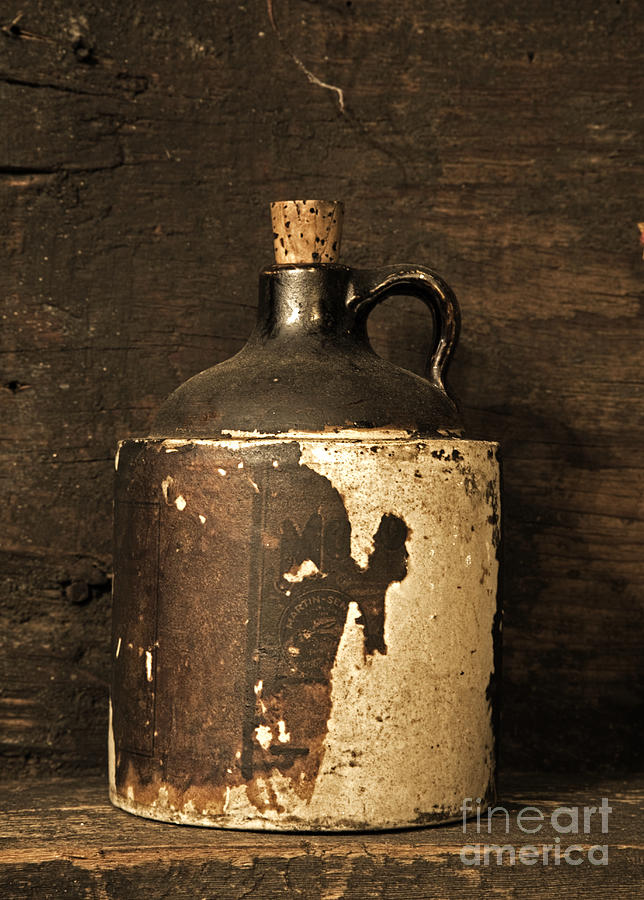 Moonshine Photograph - Buddy Bear Moonshine Jug by John Stephens