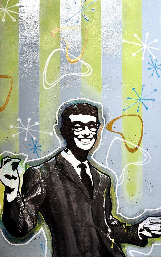 Portrait Painting - Buddy Holly by Erica Falke