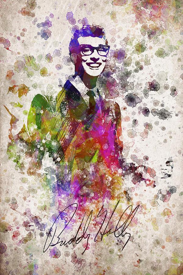 Buddy Holly In Color Digital Art