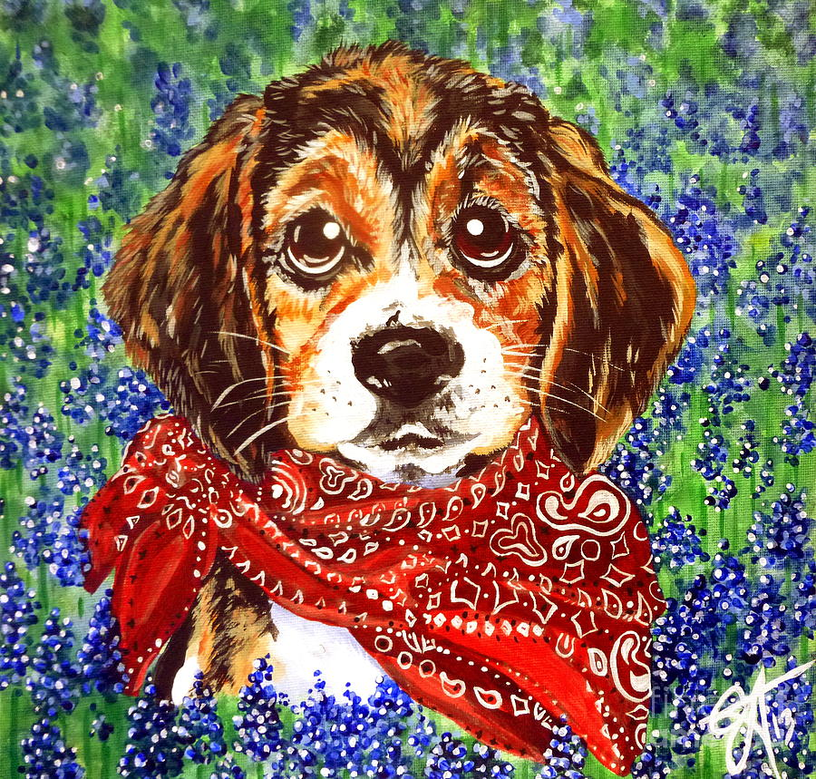 Beagle Painting - Buddy by Jackie Carpenter