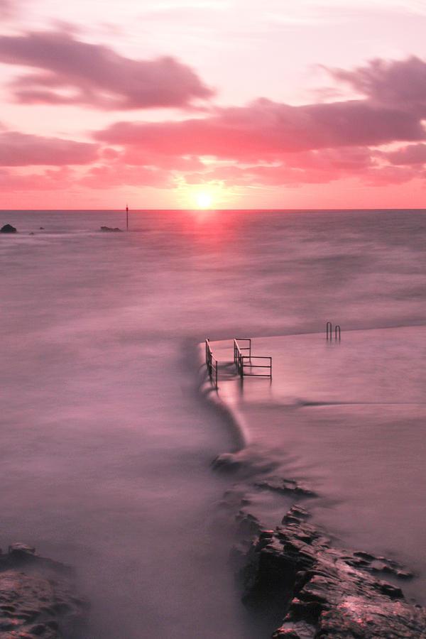 Bude Photograph - Bude Sea Pool Sunset by Debra Jayne