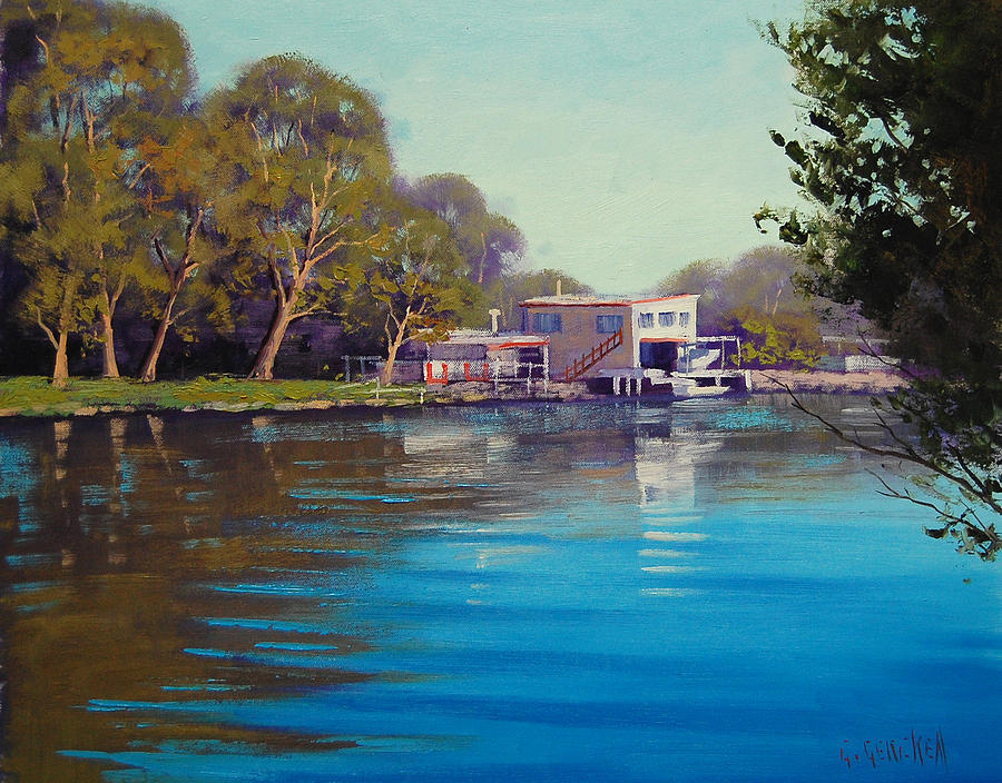 River Painting - Budgewoi Creek by Graham Gercken