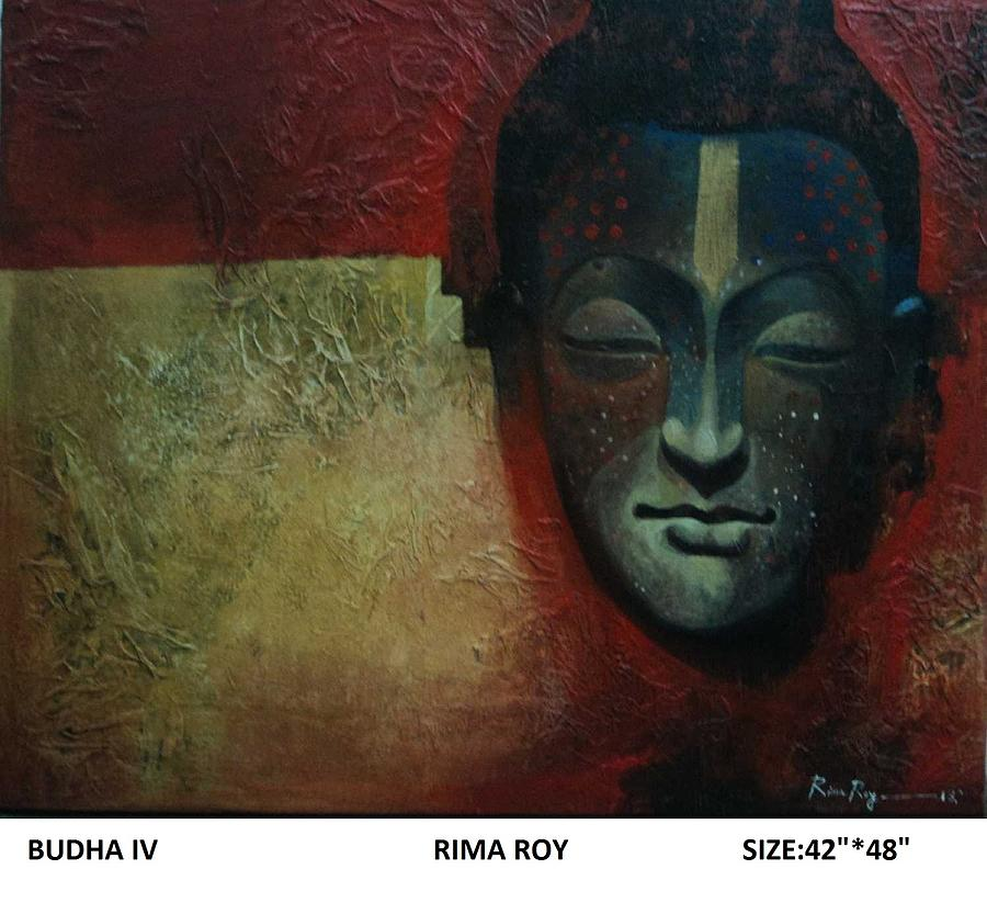 Figurative Painting - Budha  by Rima Roy