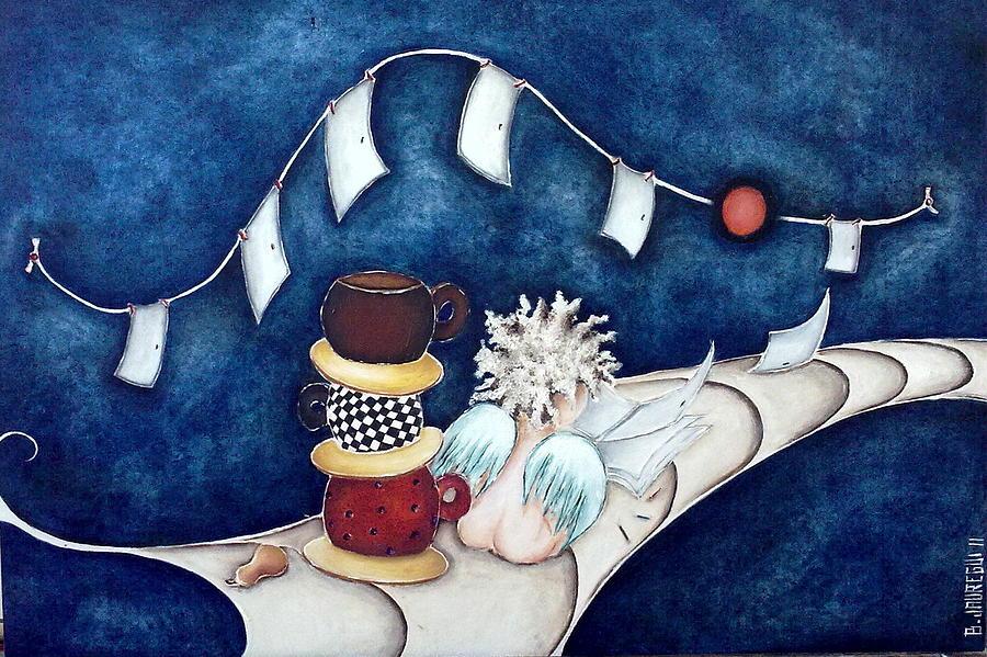 Moon Painting - Buenas Noches Inspiracion by Belen Jauregui