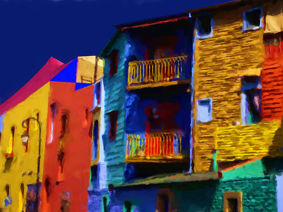 Buenos Aires Caminito Typical Street Atmonphere Painting Digital Art by Asbjorn Lonvig