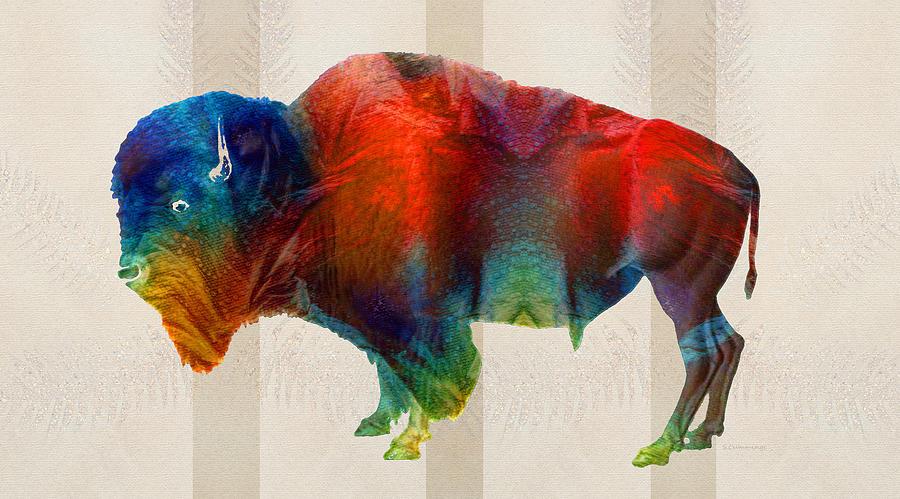 Buffalo Painting - Buffalo Animal Print - Wild Bill - By Sharon Cummings by Sharon Cummings