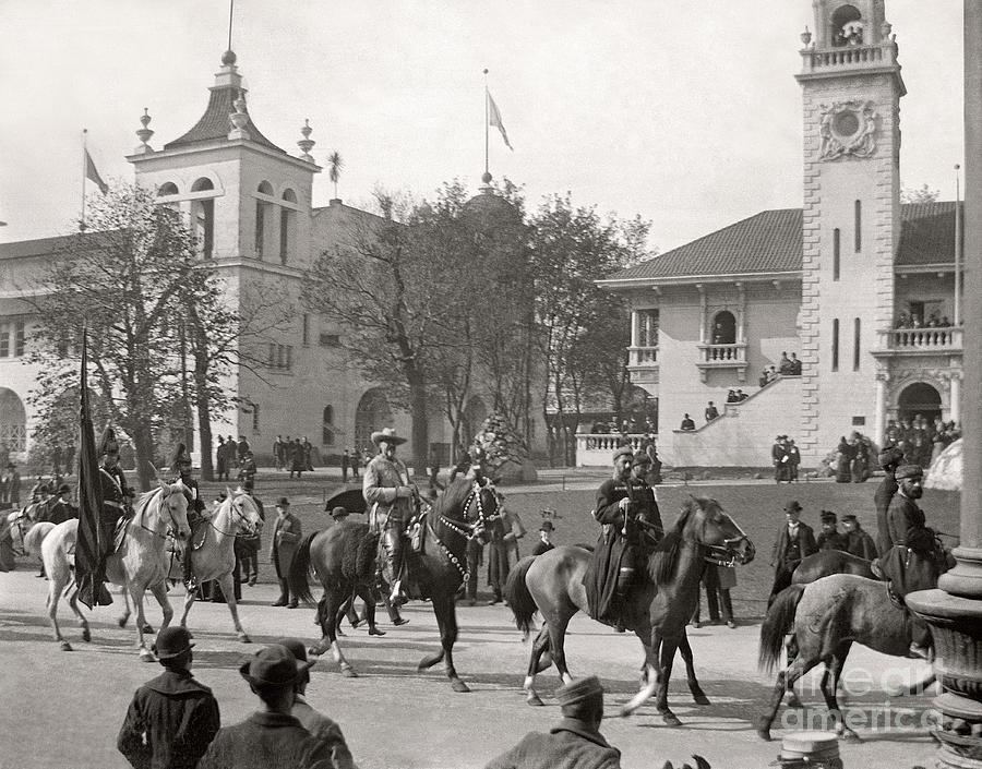 Columbian Exposition Photograph - Buffalo Bill Columbian Exposition 1893 by Martin Konopacki Restoration