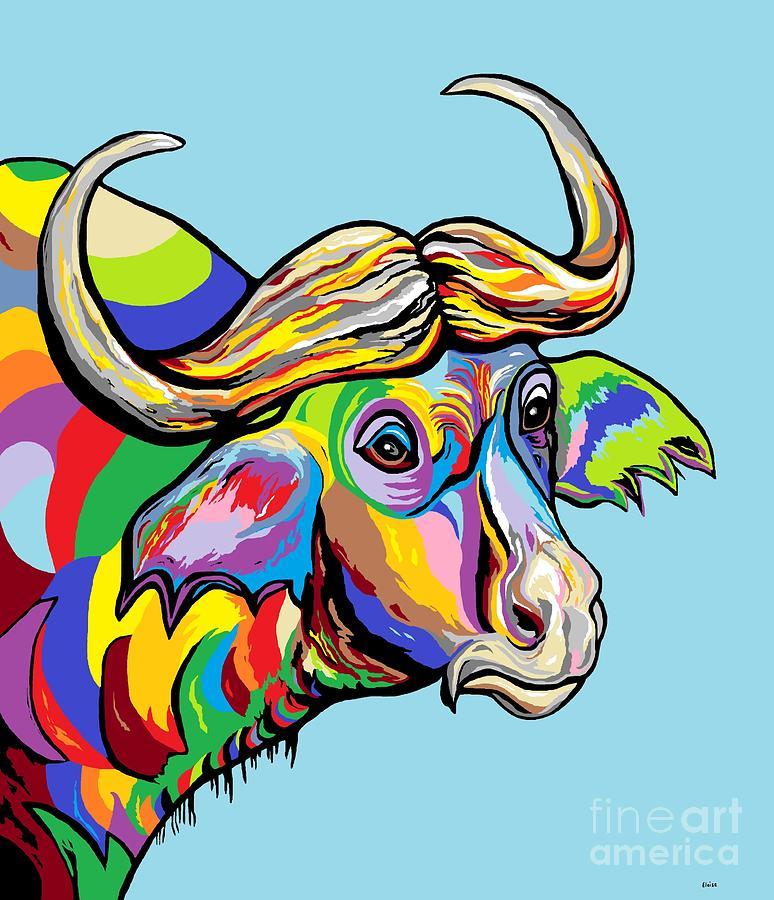 Buffalo Painting - Buffalo by Eloise Schneider