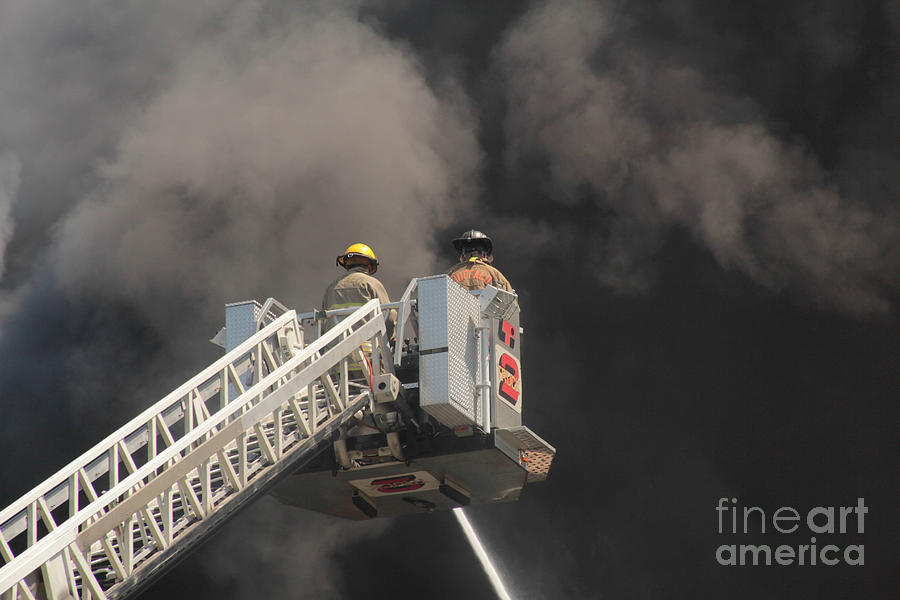 Fire Photograph - Buffalo Fire Department Ladder Truck by Jim Lepard