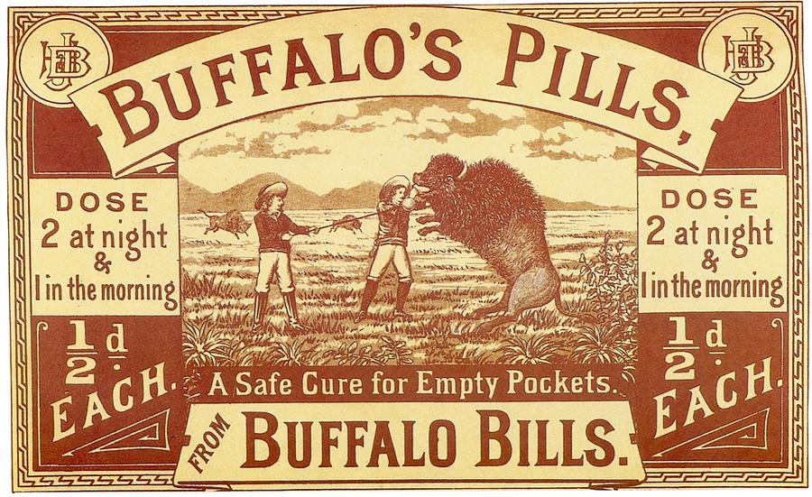 Buffalo's Pills Vintage Ad by Gianfranco Weiss