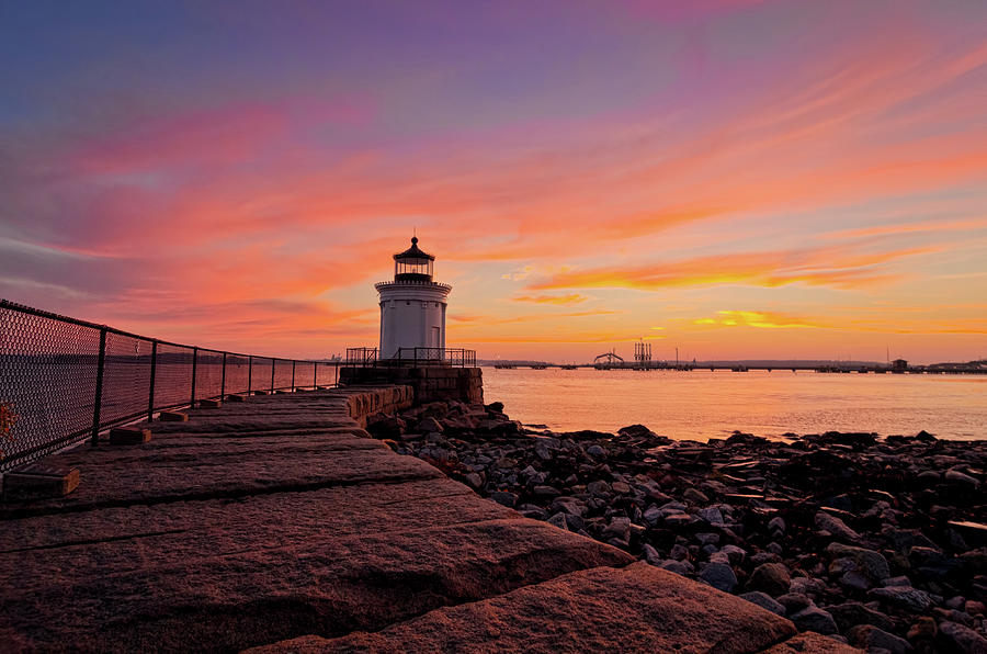 Bug Light Sunrise 1899 Photograph by Www.cfwphotography.com