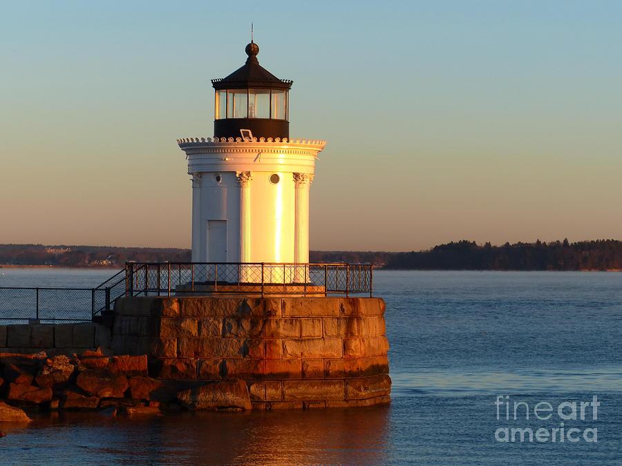 Lighthouse Photograph - Bug Light Sunrise by Christine Stack