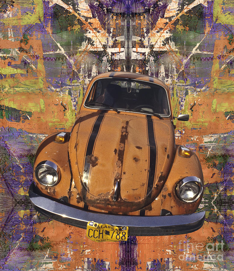 Beetle Painting - Bug Love by Bruce Stanfield