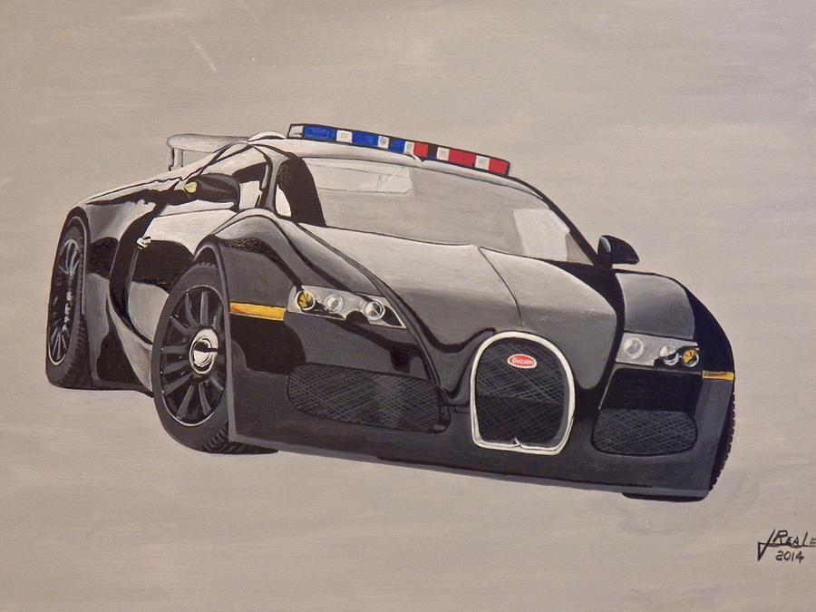 Bugatti Painting - Bugatti Police by Jim  Reale