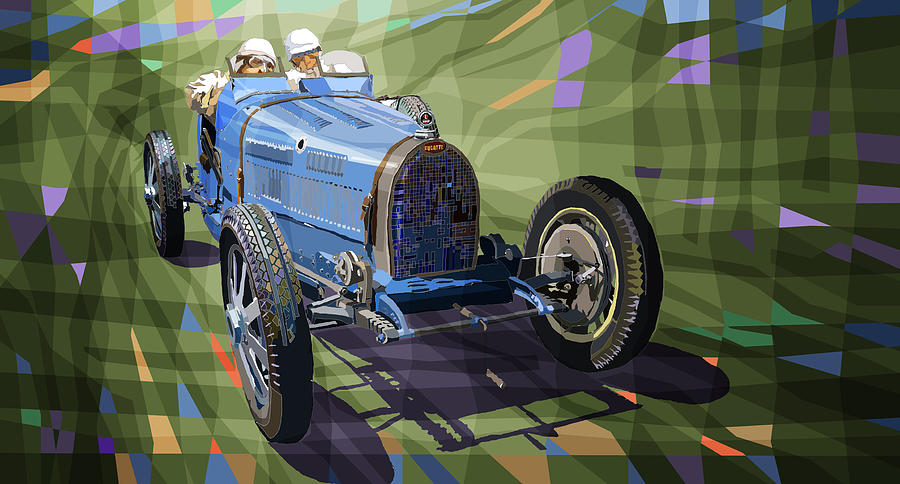 Automotive Digital Art - Bugatti Type 35 by Yuriy Shevchuk