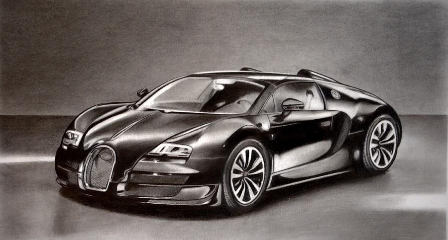 Bugatti Veyron Drawing By Darryl Linquist