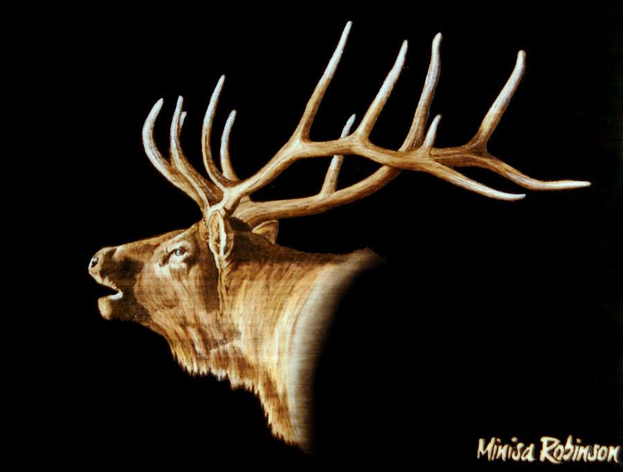 Elk Mixed Media - Bugle by Minisa Robinson