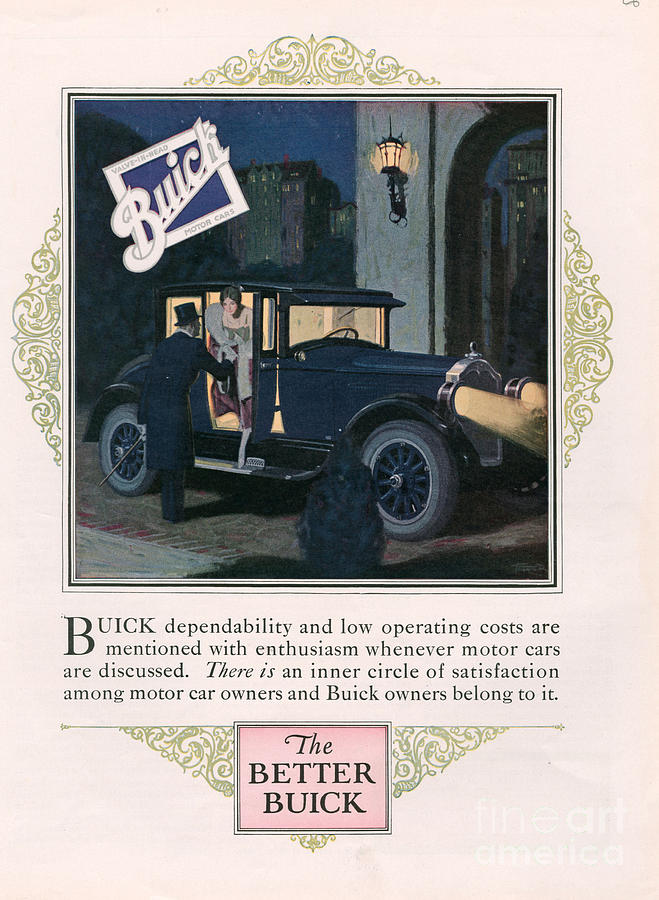 Adverts Drawing - Buick 1926 1920s Usa Cc Cars by The Advertising Archives