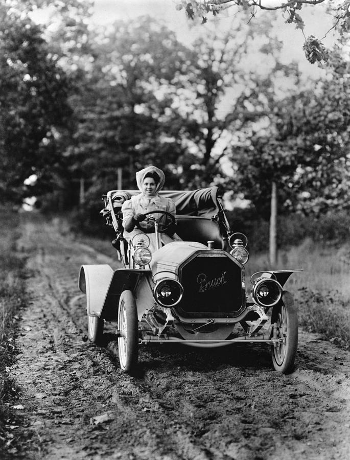1907 Photograph - Buick Automobile, C1907 by Granger