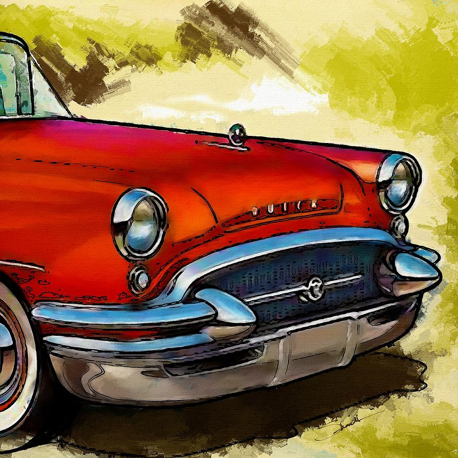 Buick Painting - Buick Automobile by Robert Smith