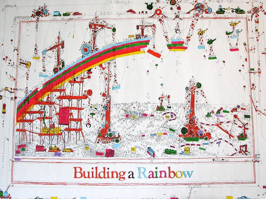 Fantasy Mixed Media - Building a rainbow by Chris Mac