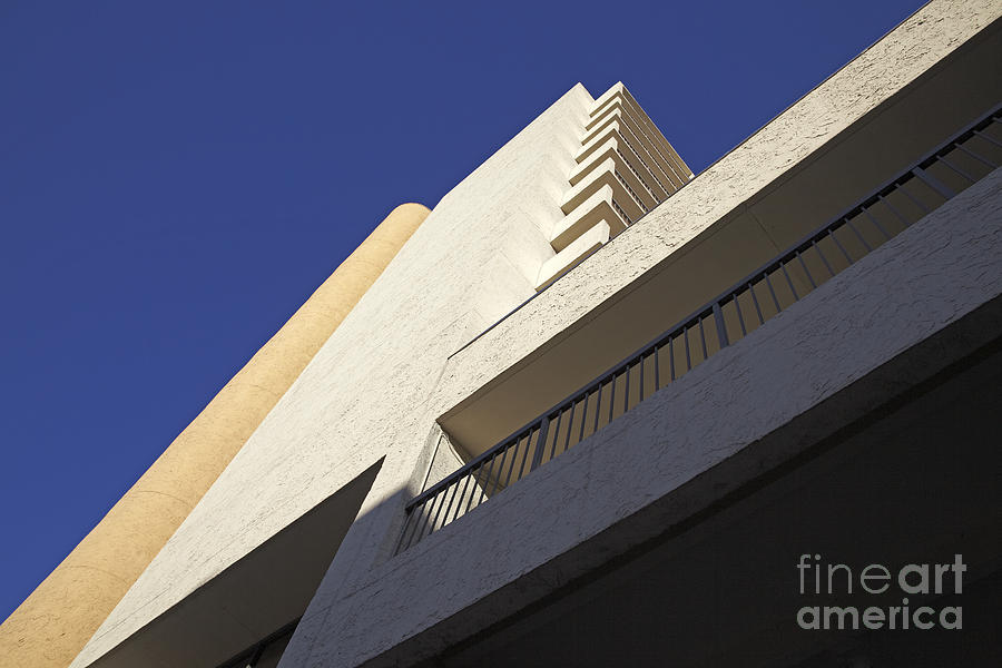 Architectural Photograph - Building Abstract by Tony Cordoza