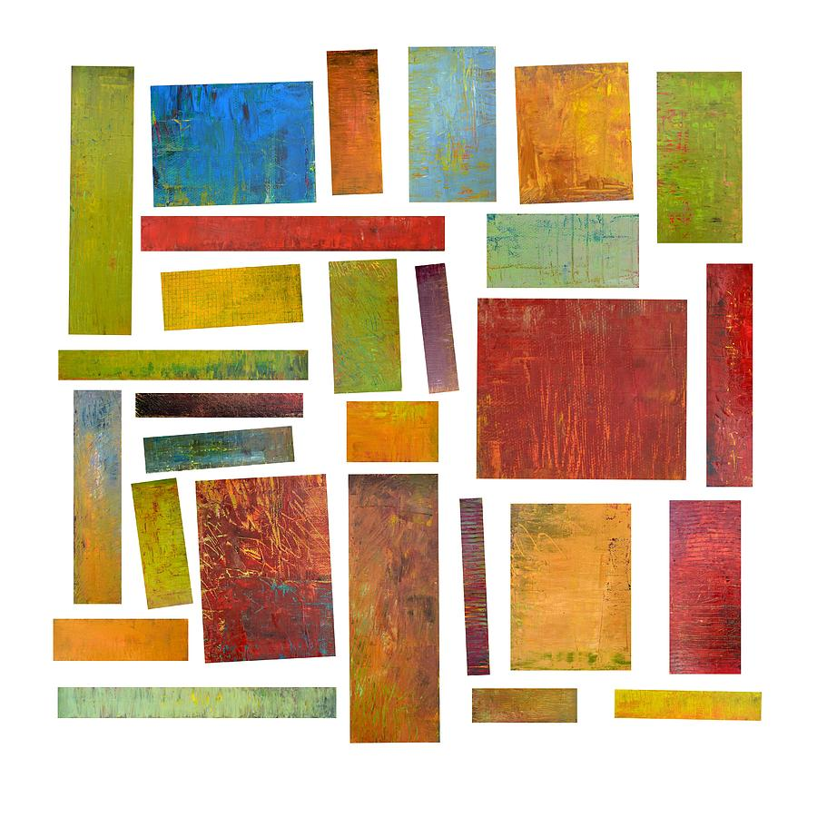 Building Blocks Of Art : Building blocks one painting by michelle calkins