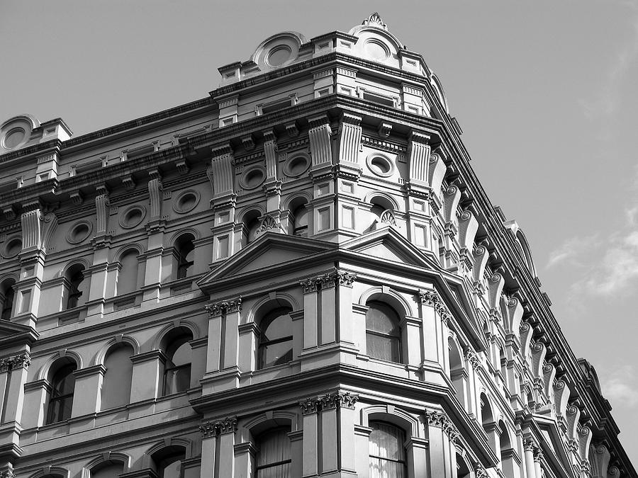 Office Building Corners - Black And White Photograph