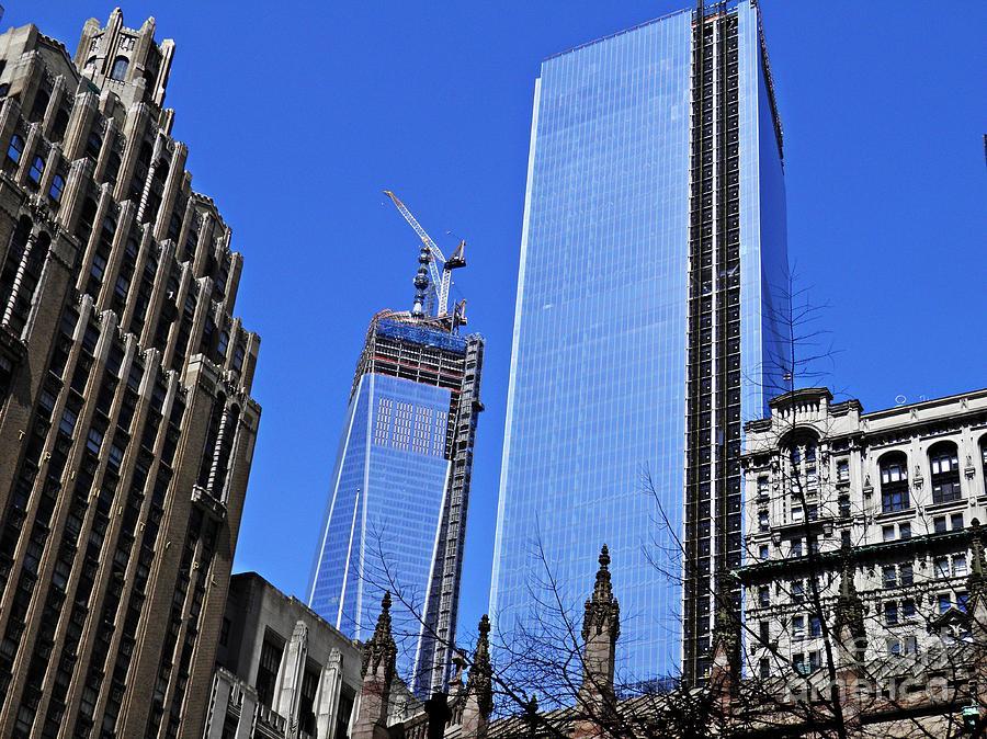 World Trade Center Photograph - Building Freedom by Sarah Loft