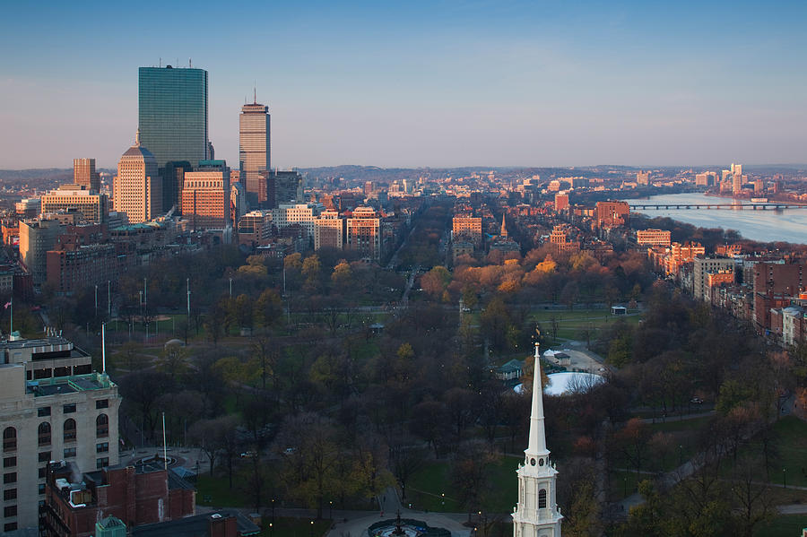 Color Image Photograph - Buildings In A City, Boston Common by Panoramic Images