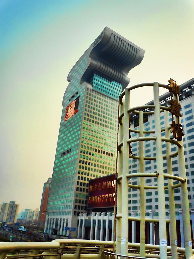 China Photograph - Buildings In Shanghai by Cathy Anderson