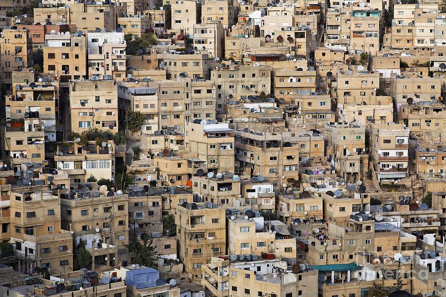 Amman Photograph - Buildings In The City Of Amman Jordan by Robert Preston