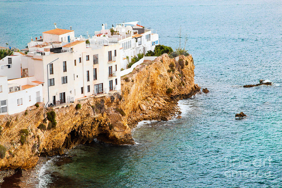 Ibiza Photograph - Buildings On The Hill By The Sea Ibiza Spain by Michal Bednarek