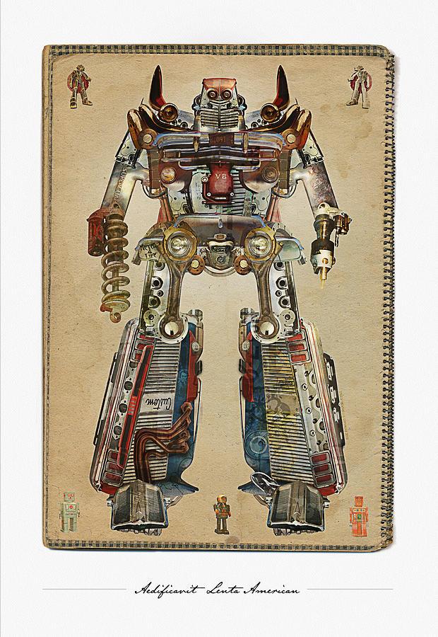 American Digital Art - Built American Tough Robot No.2 by Jeff Steed
