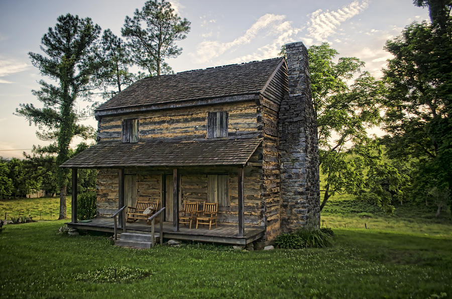 Log Cabin Photograph - Built To Last by Heather Applegate