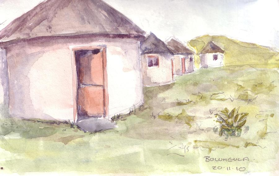 Transkei Painting - Bulangula by David  Hawkins