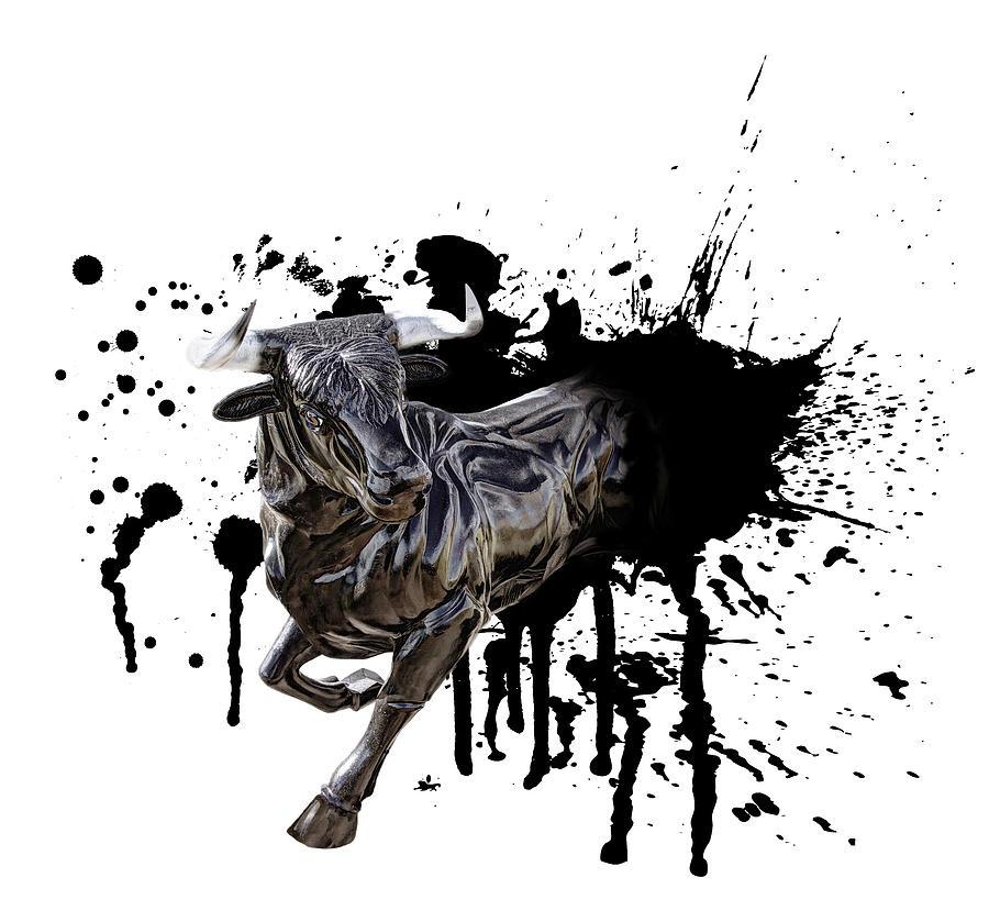 Bull Digital Art - Bull Breakout by Daniel Hagerman