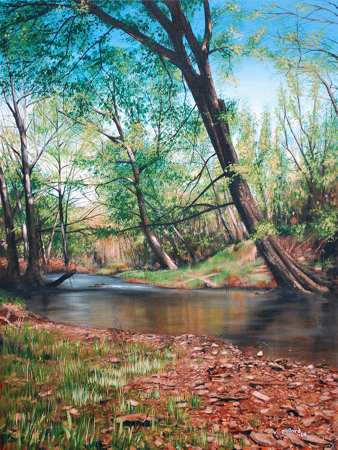 Floyd Painting - Bull Creek by Glenn Pollard