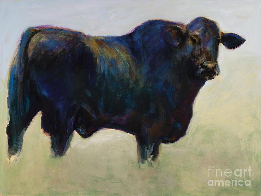 Black Angus Painting - Bull by Frances Marino