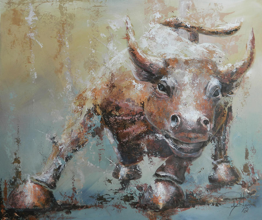 Abstract Painting - Bull Market Y by John Henne