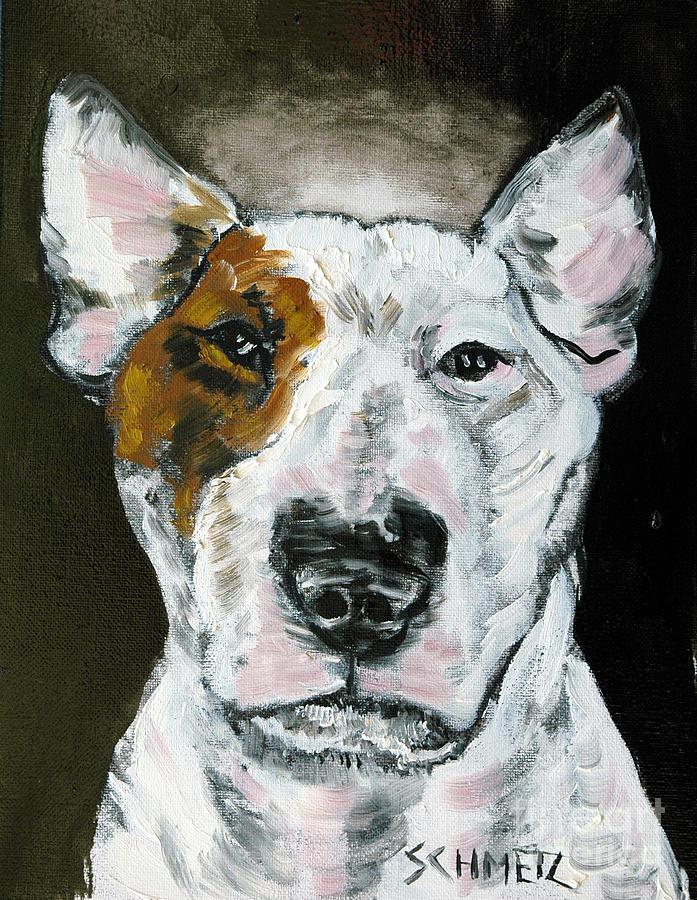 Bull Terrier Painting - Bull Terrier Angel by Jay  Schmetz