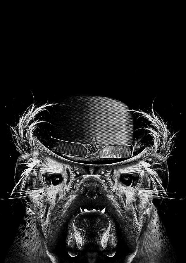 Bulldog Mixed Media - Mr. Bulldog by Jarno Lahti