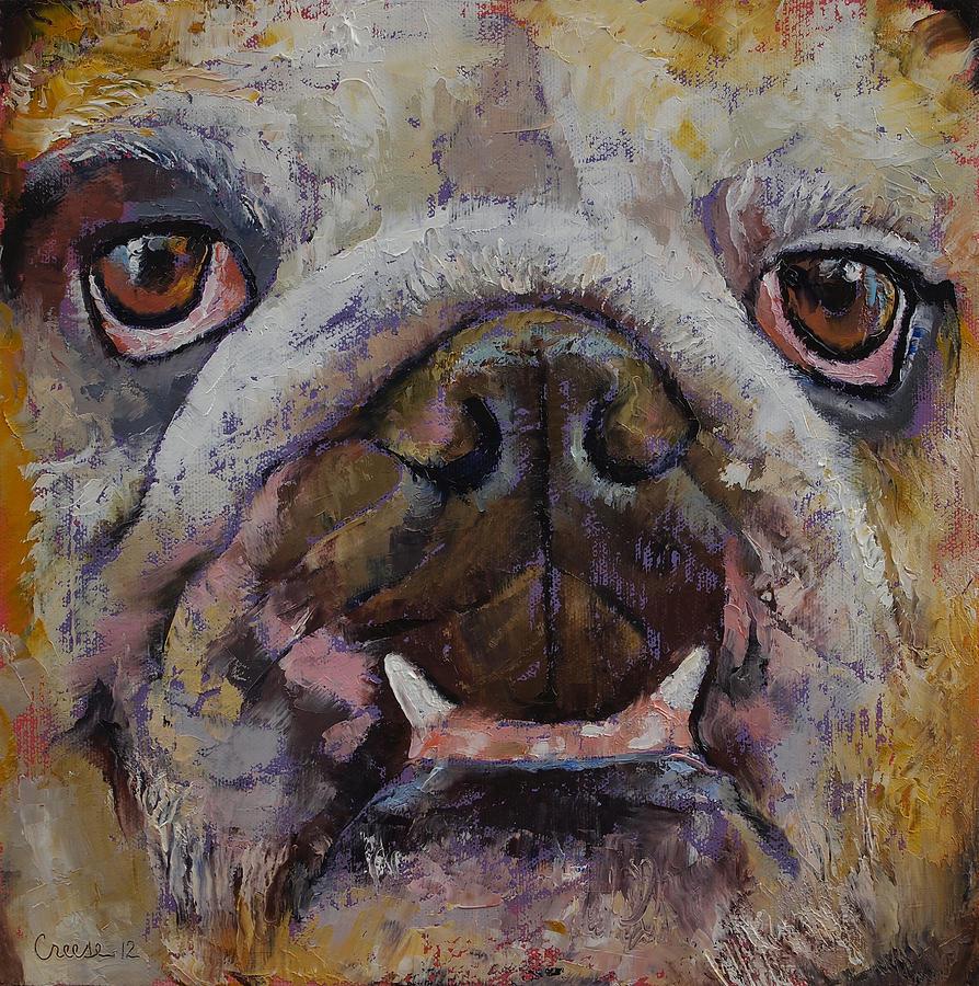 Bulldog Painting - Bulldog by Michael Creese