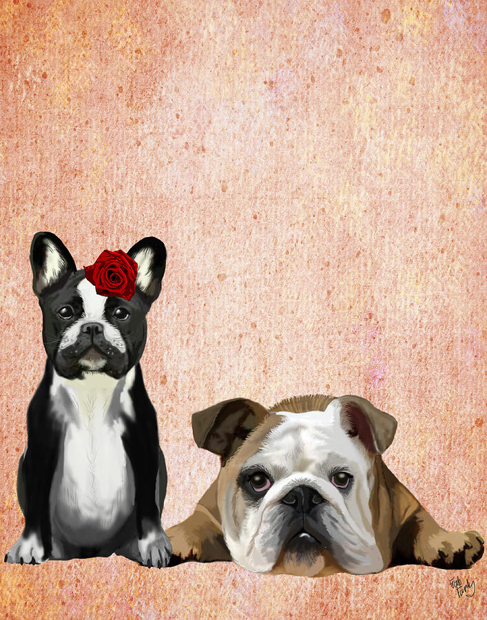 Bulldogs French And English Digital Art by Kelly McLaughlan