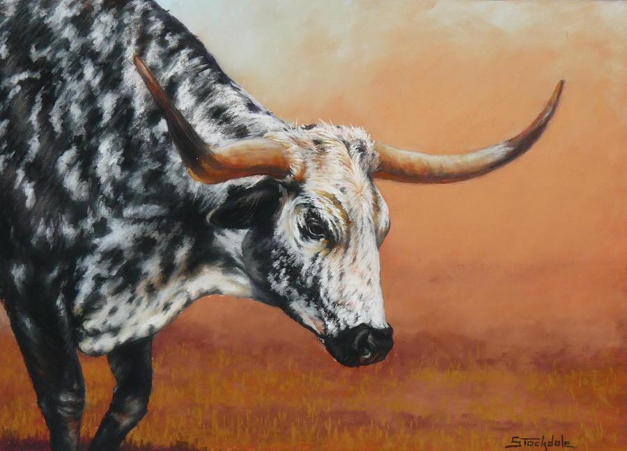 Longhorn Drawing - Bulldust by Margaret Stockdale